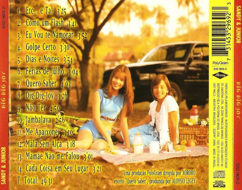 cd - sandy e junior: dig dig joy 1996