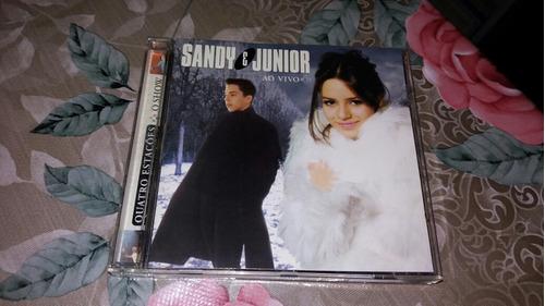 cd sandy e junior  quatro estações o show ao vivo original