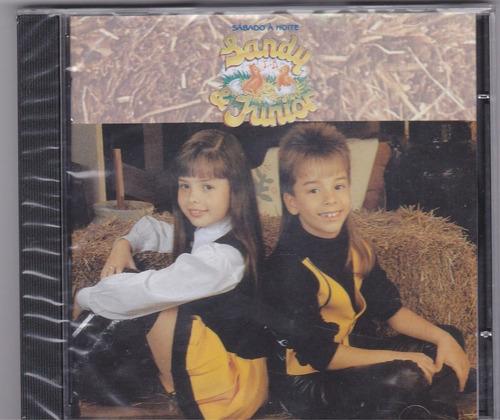 cd sandy & junior sábado à noite original - lacrado!