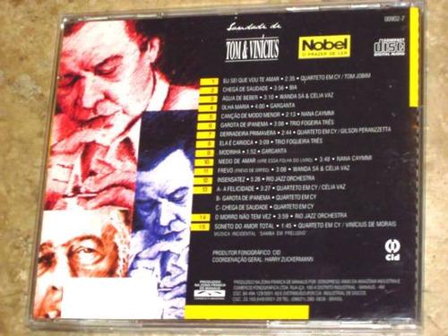 cd saudade tom vinicius (1999) c/ quarteto em cy wanda sa