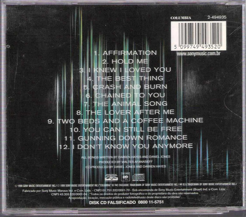 cd savagegarden affirmation