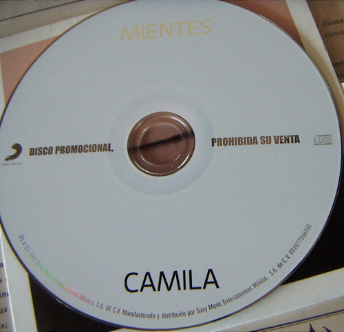 cd sencillo, camila, mientes, hwo