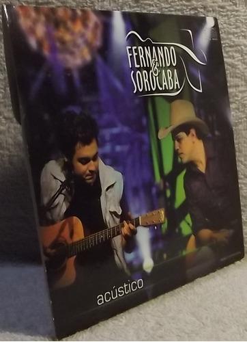 cd sertanejo. fernando & sorocaba - acústico (a)