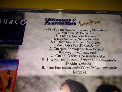 cd servando y florentino - entre panas nuevo sellado / salsa