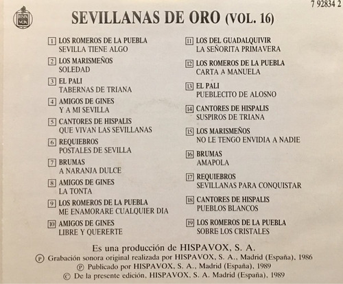 cd sevillanas de oro vol 16