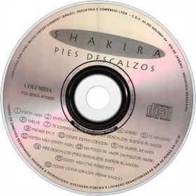 cd - shakira - pies descalzos