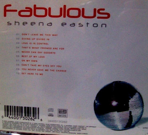 cd sheena easton disco music techno pop anos 70.80 novo