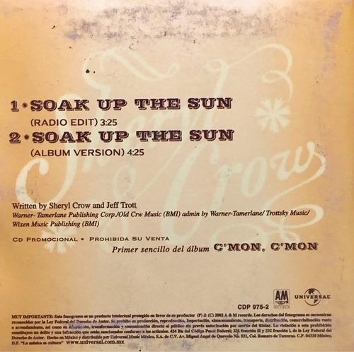 cd sheryl crow soak up the sun promo usado