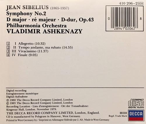 cd sidelius s n 2 vladimir ashkenazy importado de alemania