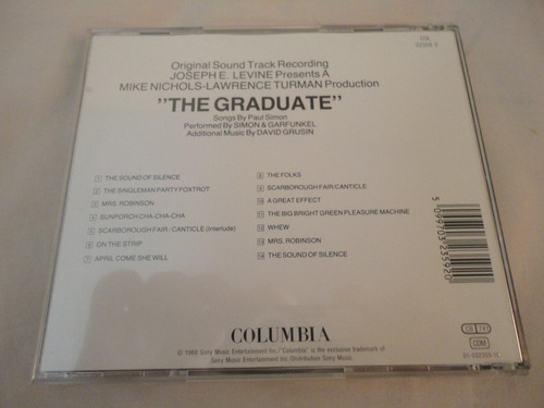 cd simon & garfunkel - the graduate (soundtrack)importado