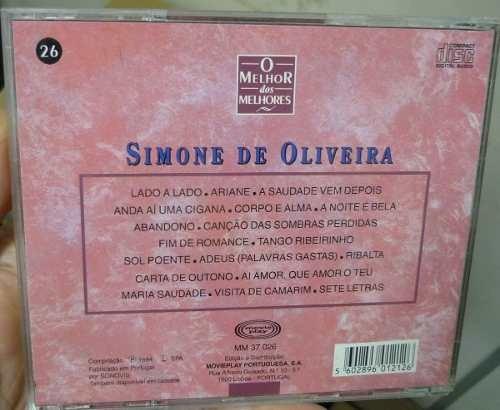 cd simone de oliveira / o melhor dos melhores - b306