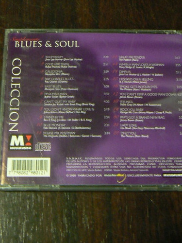 cd simplemente blues & soul coleccion musimundo en la plata