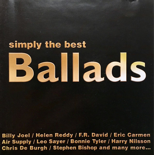 cd simply the best ballads billy joel helen reddy air supply