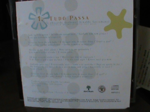 cd single adryana e a rapaziada - tudo passa 2000