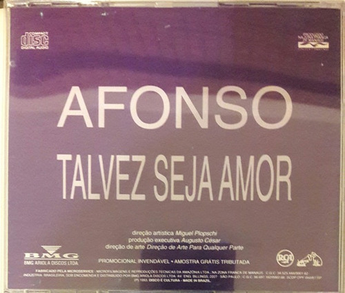 cd-single-afonso nigro-talvez seja amor-1993-em otimo estado