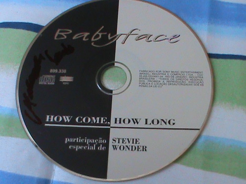 cd single babyface e stevie wonder - how come how long nacio