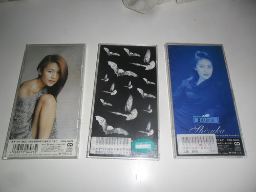 cd single blue rose shizuka j-pop lote 3 singles originais j