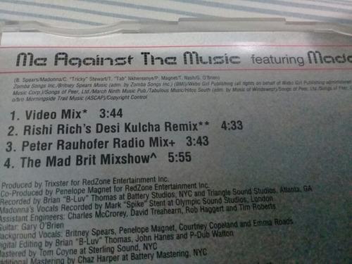cd  single britney spears me against the music madonna origi