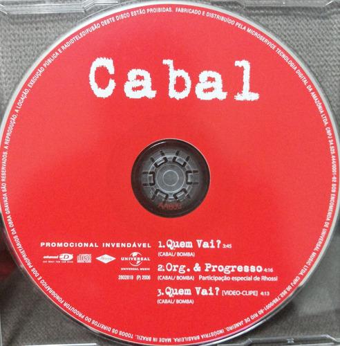 cd single cabal - quem vai + video
