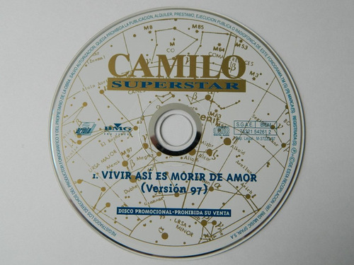 cd single camilo sesto vivir asi es morir de amor version 97