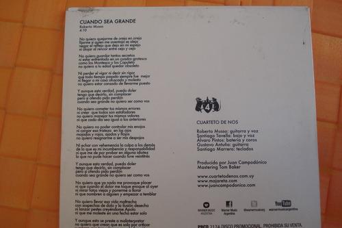 cd single el cuarteto de nos cuando sea grande