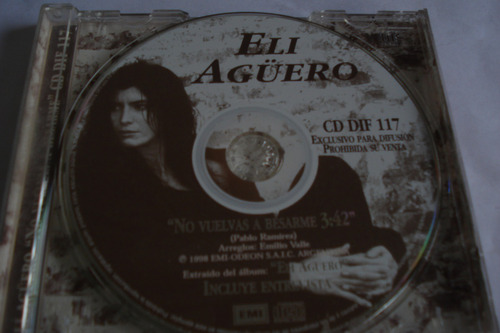 cd single eli aguero no vuelvas a besarme