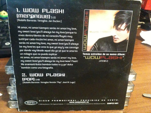 cd single elvis crespo wow flash promo español