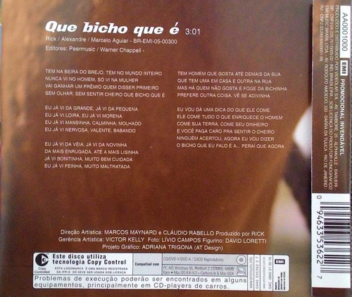 cd single gino e geno - que bicho que é