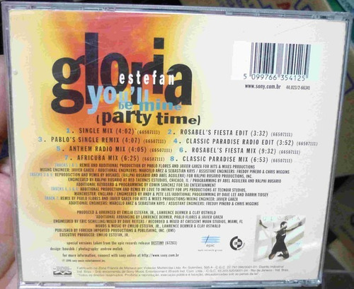 cd single gloria estefan - you'll be mine ( party time )
