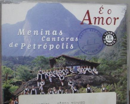 cd  single  meninas de petropolis - é o amor  - b133b135