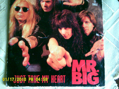 cd single mr big just take my heart