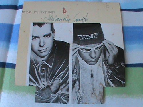 cd single pet shop boys - before 1996 importado