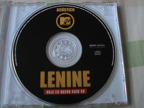 cd single promocional - lenine - hoje eu quero sair só - mtv
