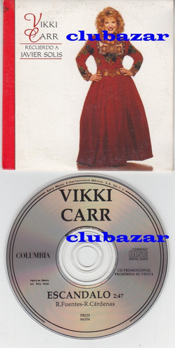 cd single promocional mexicano de vikki carr escándalo 1995
