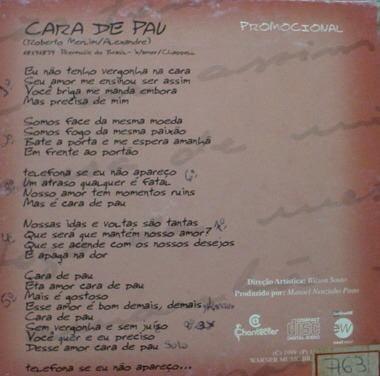 cd single : rick & renner - cara de pau - b305