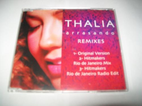 cd-single-thalia-arrasando-remixes-nacional-em excelente est