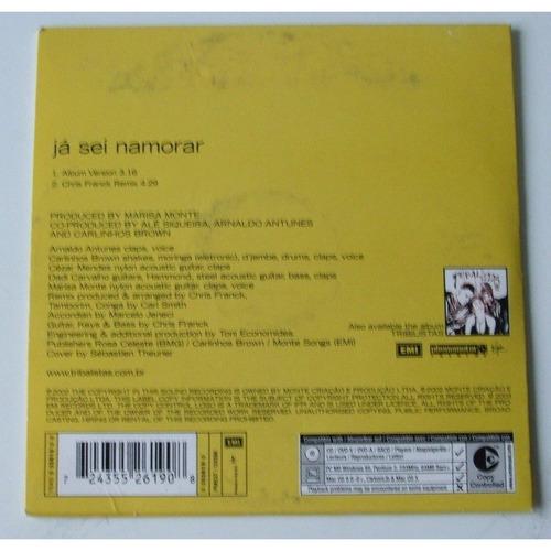cd-single-tribalistas-já sei namorar-em otimo estado