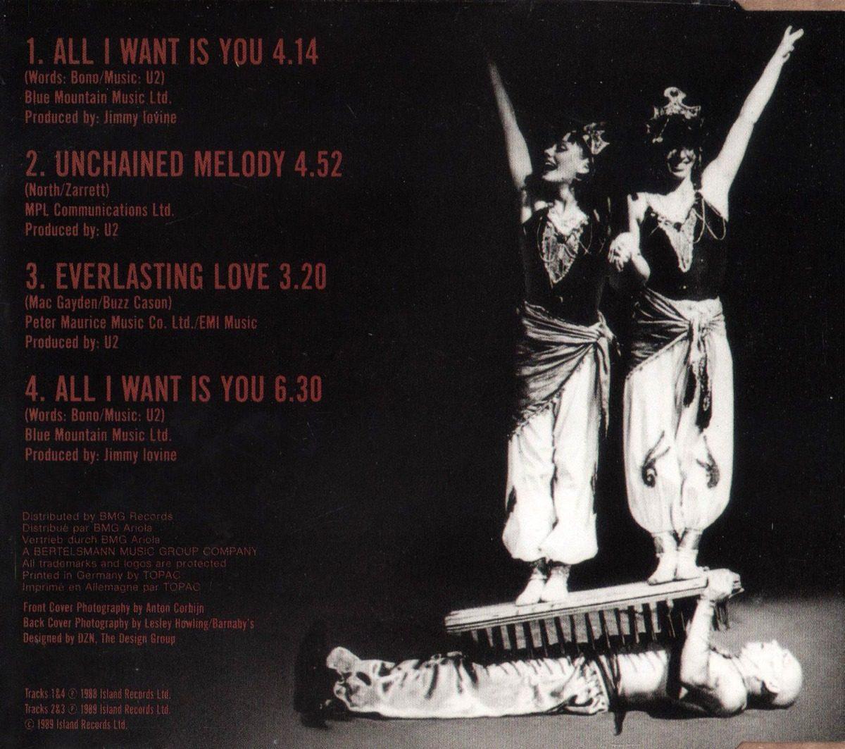 Cd Single U2 All I Want Is You 1989 Usado