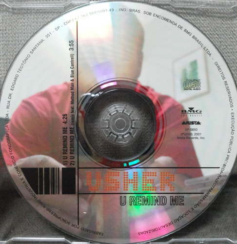 cd single - usher - u remind me