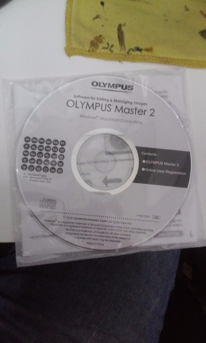cd software for editing managing imagens olympus master 2 r 8 00