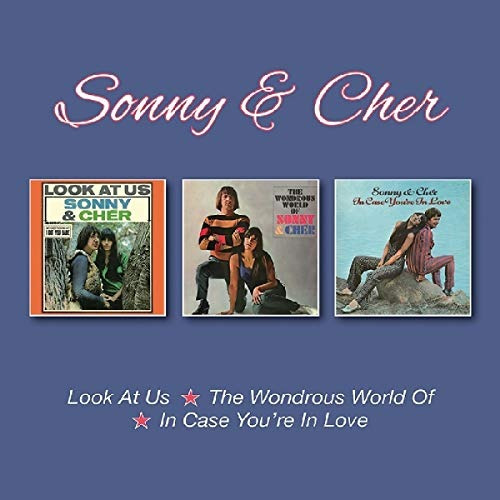 cd : sonny & cher - look at us /  wondrous world of /  in...