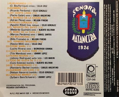 cd sonora matancera y sus cantantes 65 aniversario vol 3