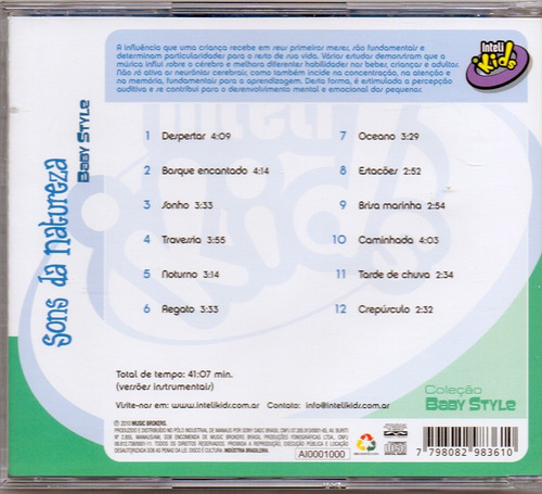 cd sons da natureza - baby style - novo***