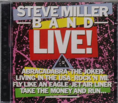 cd steve miller band - live! - novo***