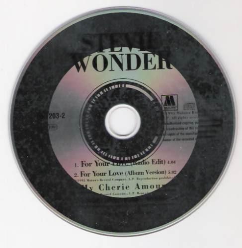 cd stevie wonder - for your love - single - raridade