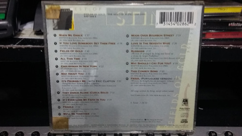 cd - sting - minha história internacional