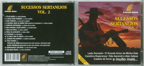cd sucessos sertanejos vol.2