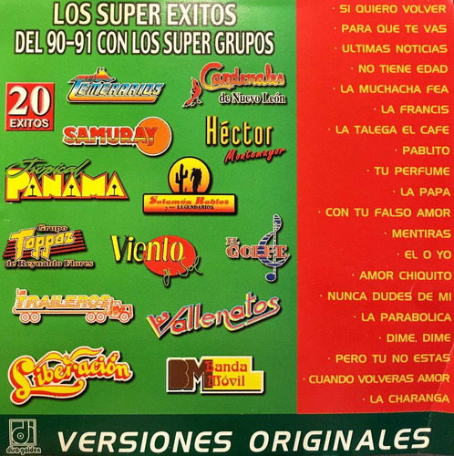 cd super grupos temerarios cardenales samuray vallenatos