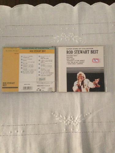 cd - super stars hit collection - rod stewart best - (japão)
