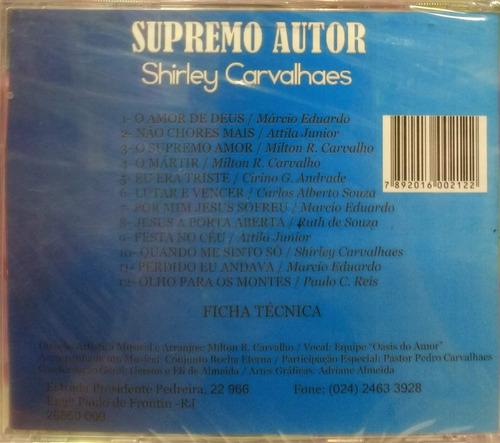cd supremo autor - shirley carvalhaes